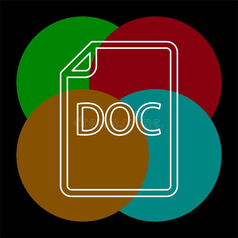 ?ci?ga DOC dokumentu ikon? - wektorowy kartoteka format royalty ilustracja
