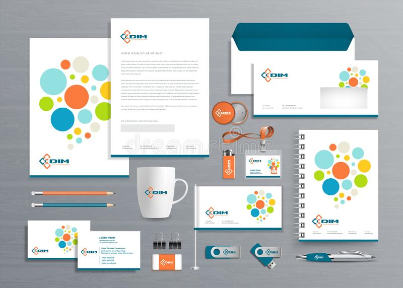Corporate Business  Identity template design Vector abstract stationery , Gift Items Color promotional souvenirs elements. link di stock photo