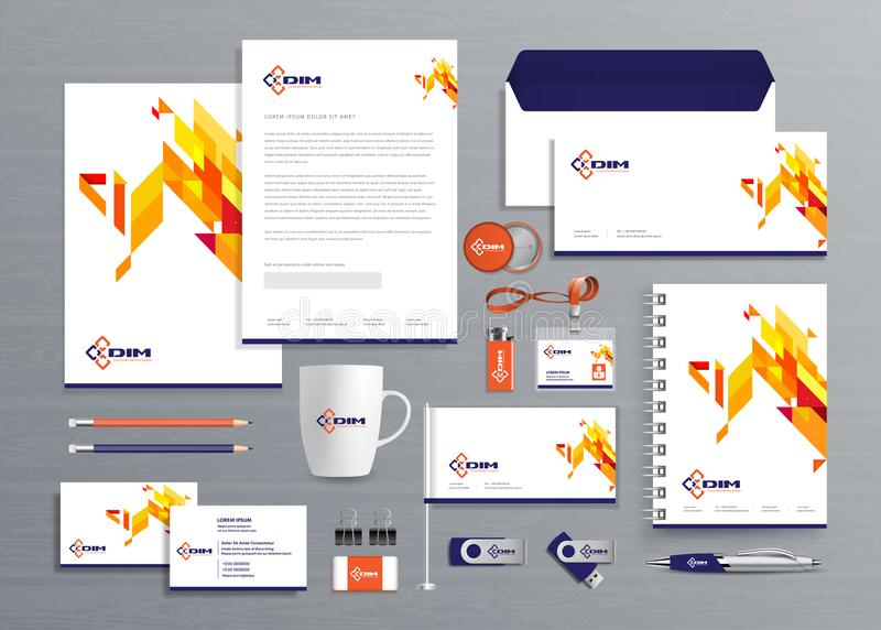 Corporate Business  Identity template design Vector abstract stationery , Gift Items Color promotional souvenirs elements. link di royalty free stock images