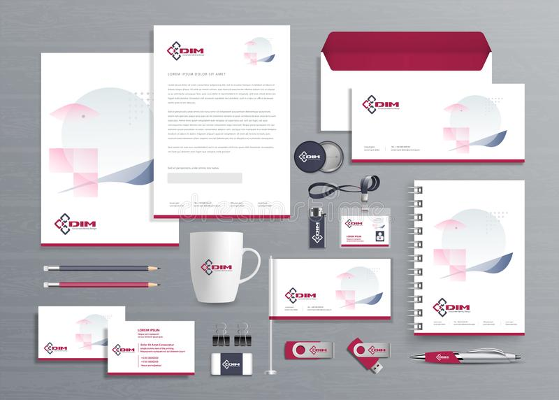 Corporate Business  Identity template design Vector abstract stationery , Gift Items Color promotional souvenirs elements. link di royalty free stock photo