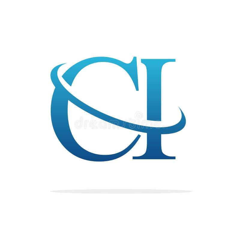 CI idérik konst för logodesignvektor stock illustrationer
