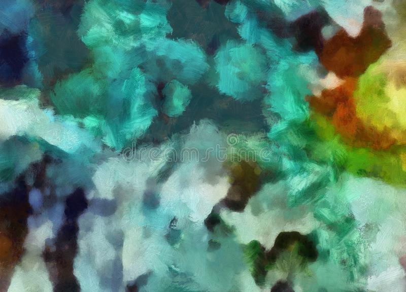 Ci?rrese encima de fondo del extracto de la pintura de aceite Pinceladas texturizadas arte en macro Parte de la pintura Ilustraci fotografía de archivo libre de regalías