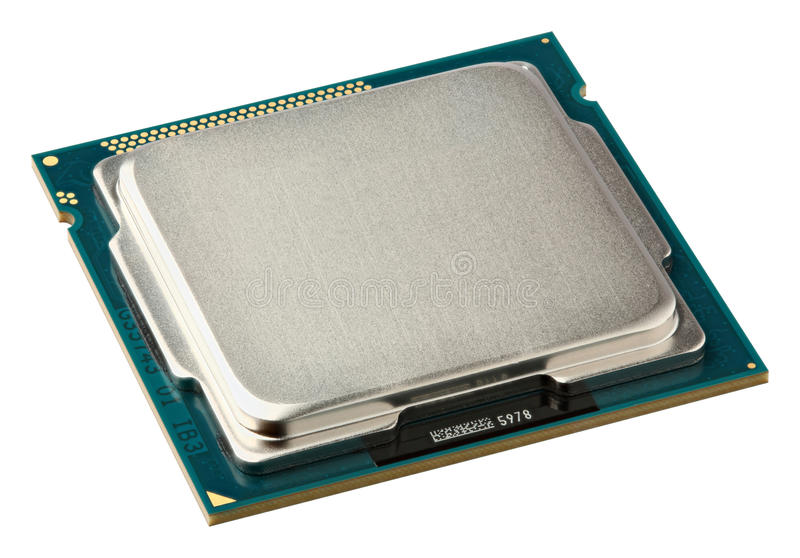 Ci?rrese encima de parte superior de la CPU imagen de archivo