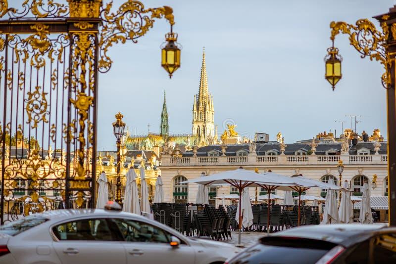 Ci9tyscape mening van de stad Frankrijk van Nancy royalty-vrije stock foto