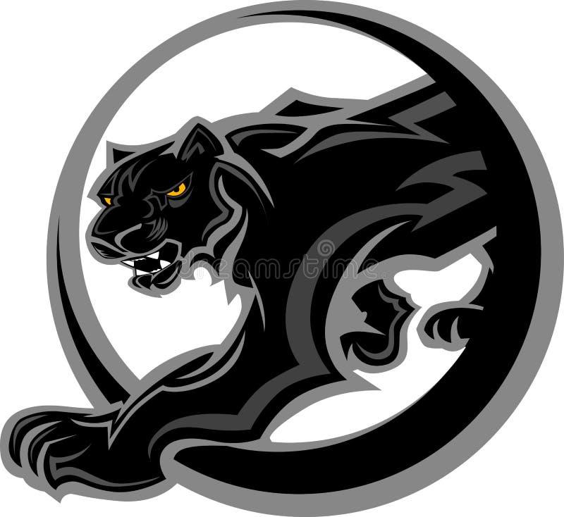 ciała graficzna maskotki pantera royalty ilustracja
