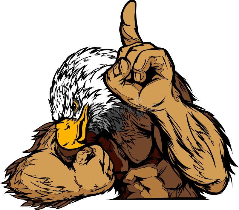 ciała kreskówki orła maskotka ilustracji