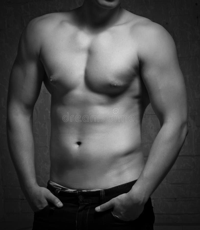 ciała mężczyzna naga półpostać fotografia stock