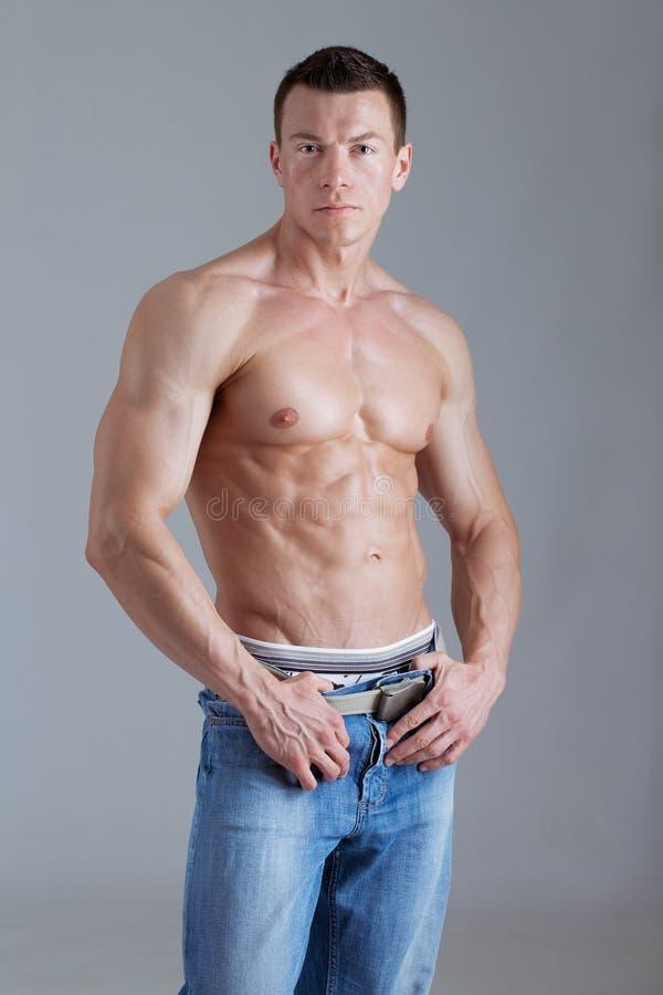 ciała mężczyzna ulga silna zdjęcie royalty free