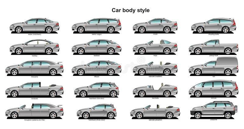ciała samochodu styl royalty ilustracja