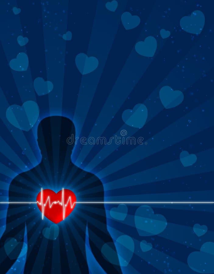 ciała serca dusza royalty ilustracja