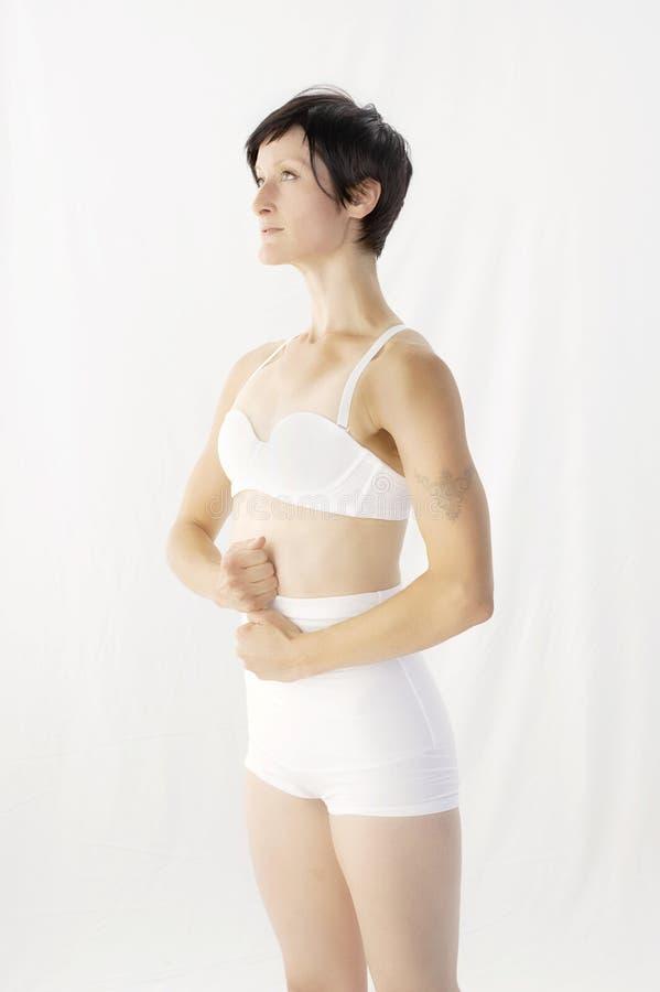 Cia?o bielizny kobiety Pozytywny Wellness zdjęcie royalty free