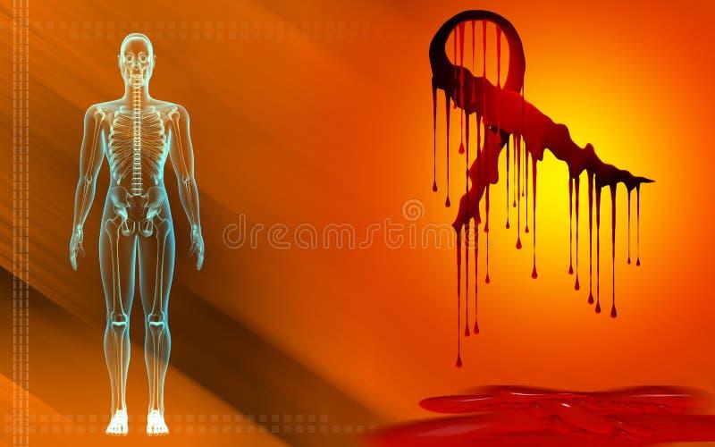 ciało ludzkie tasiemkowy hiv przejrzysta ilustracji