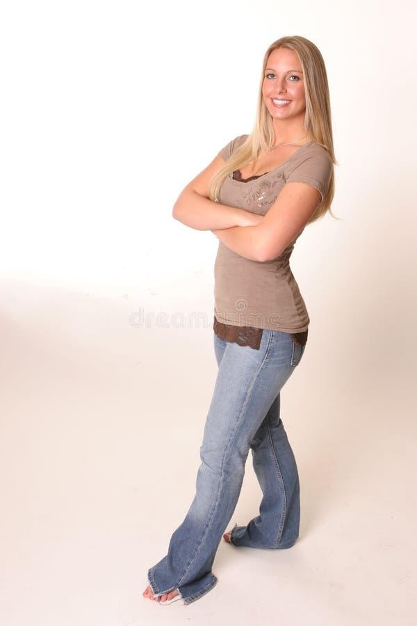ciało pełne dżinsy nastolatków. fotografia stock