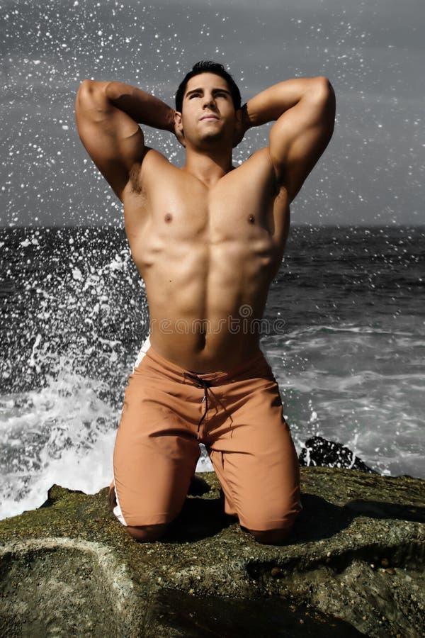 ciało plażowy budowniczy fotografia stock