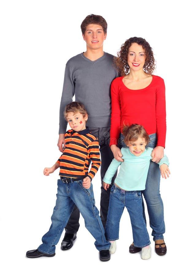 ciało rodzina cztery folował szczęśliwego obrazy royalty free