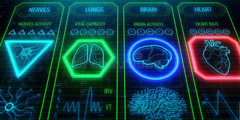 Ciało systemu interfejs ilustracja wektor