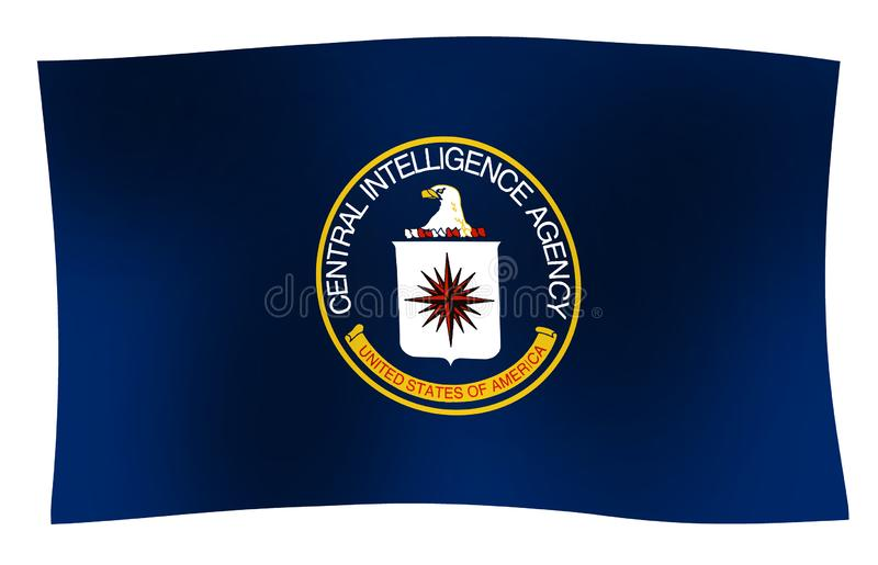 CIA-Flaggen-Welle stock abbildung