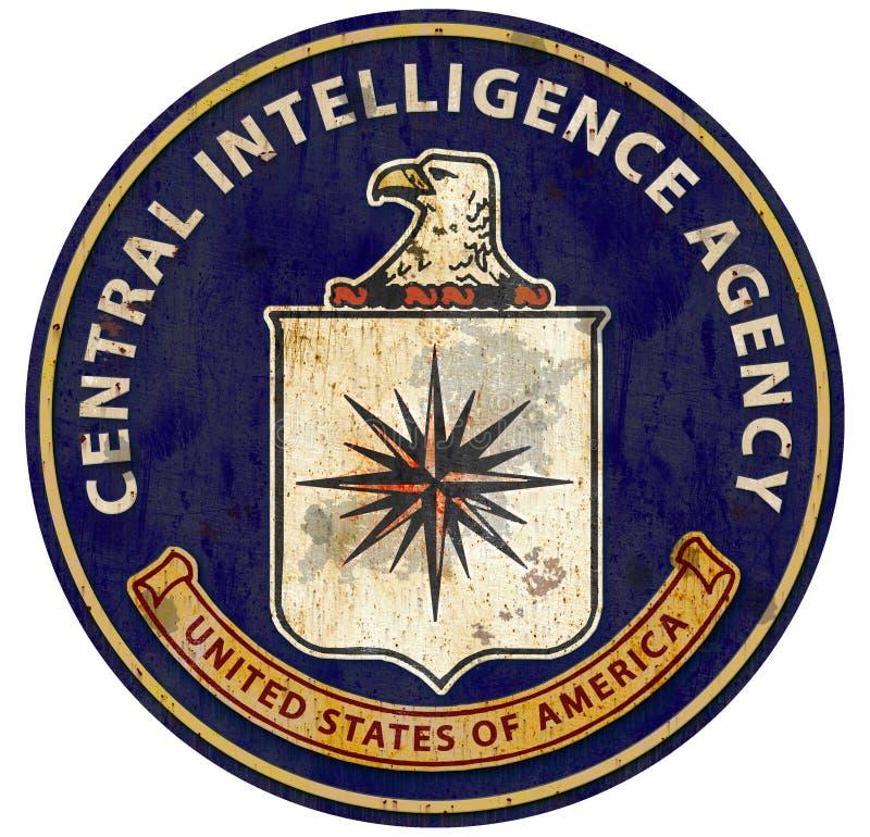CIA logo foka C Ja A Centralna Agencja Wywiadowcza ilustracji