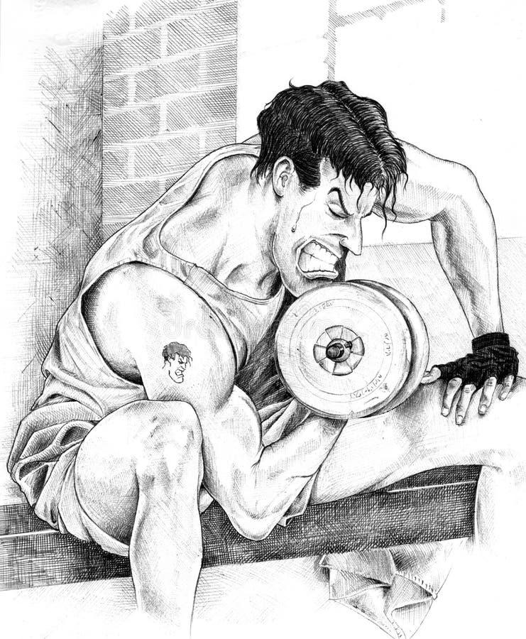 Download Ciało budynek ilustracji. Obraz złożonej z fitness, silny - 4928024