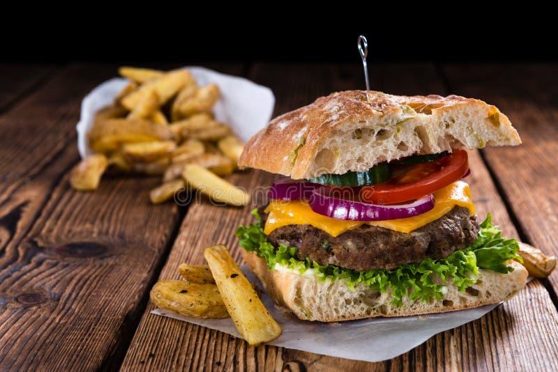 Ciabatta-Burger stockfotografie