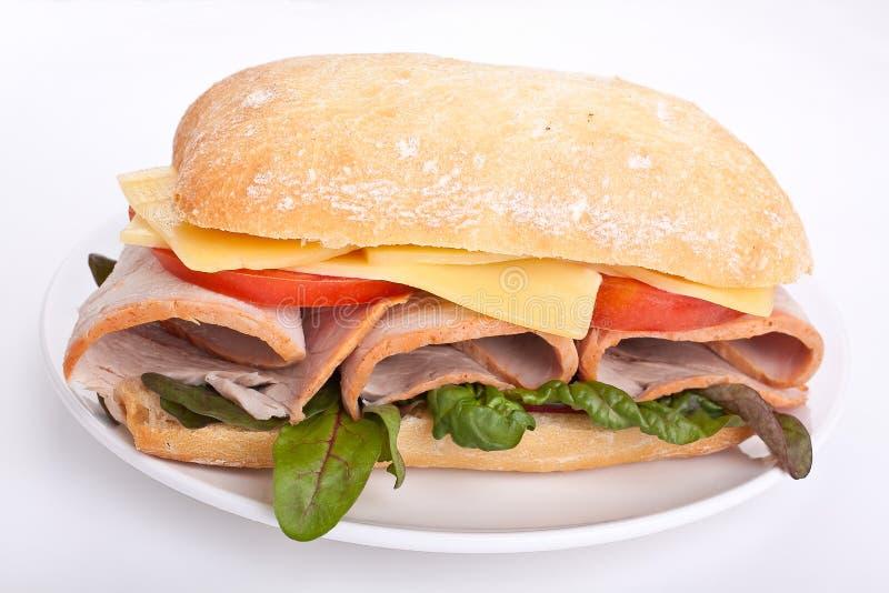 ciabatta chlebowa kanapka fotografia stock