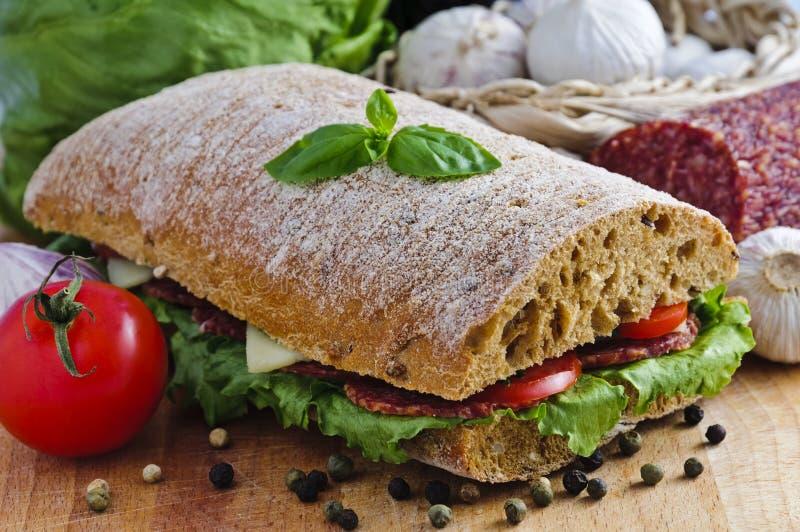 Ciabatta sandwich stock images