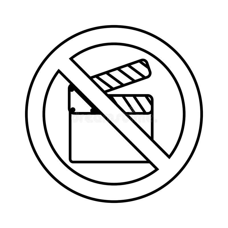 Ciac con il segno negato illustrazione vettoriale