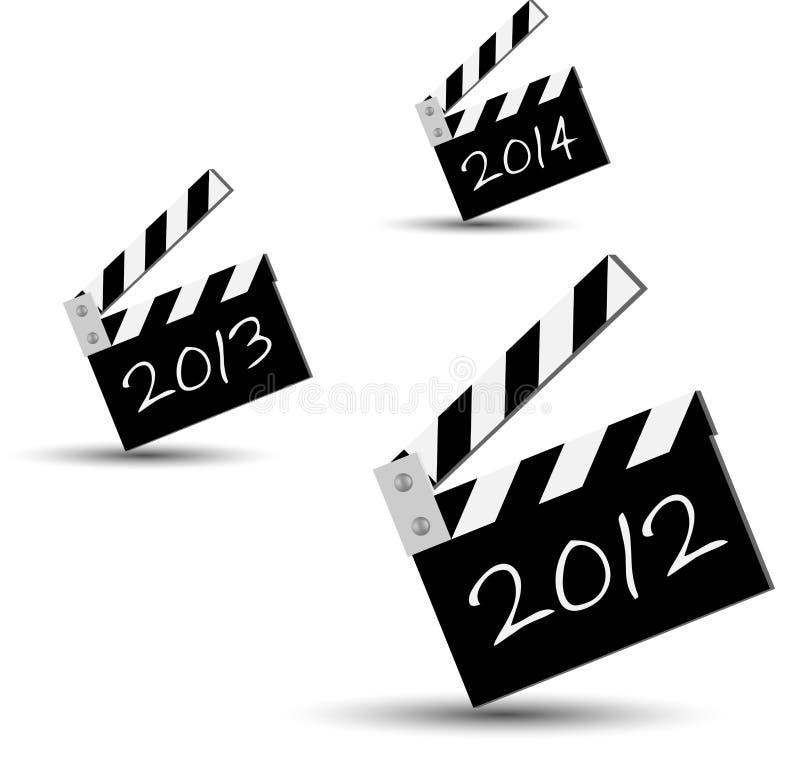 Ciak 2012. Blackboards series for new 2012 year royalty free illustration