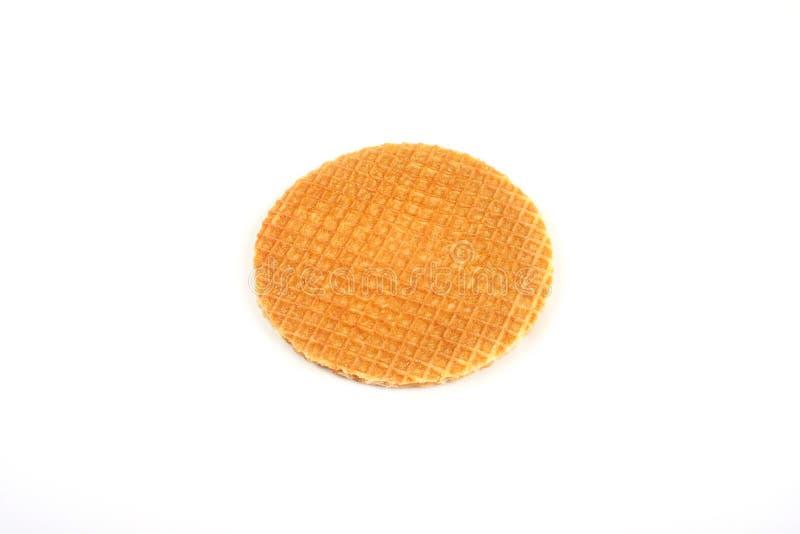 Cialda rubiconda rotonda isolata su fondo bianco fotografia stock