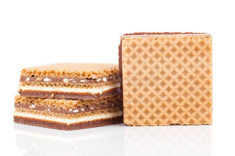 Cialde con cioccolato fotografia stock libera da diritti