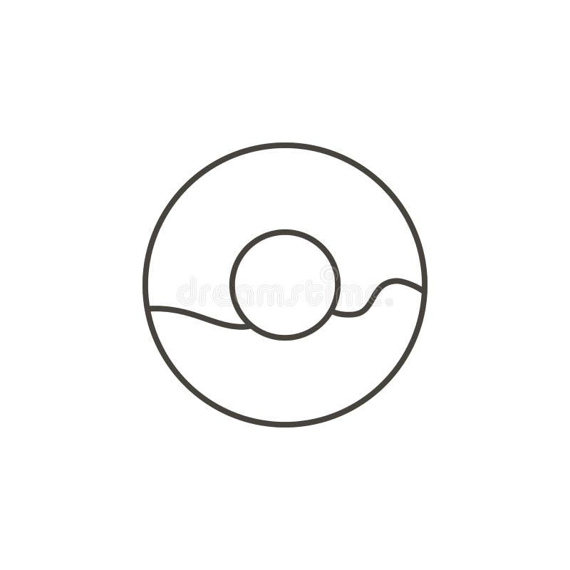 Ciambella, icona di vettore della ciambella Illustrazione semplice dell'elemento dal concetto dell'alimento Ciambella, icona di v illustrazione vettoriale