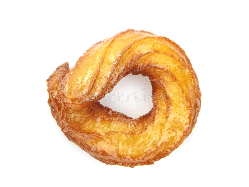 Ciambella turca o dolce tradizionale dell'anello isolato su fondo bianco fotografia stock