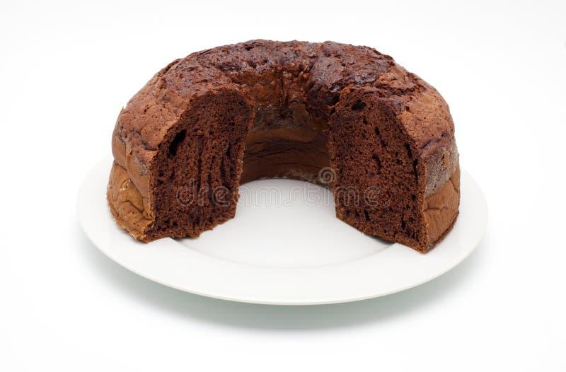 Ciambellone (纯净的巧克力) 免版税库存照片