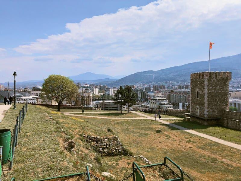 ?ciana kasztel w skopie Macedonia zdjęcia stock