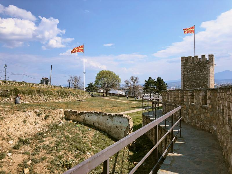 ?ciana kasztel w skopie Macedonia zdjęcie royalty free