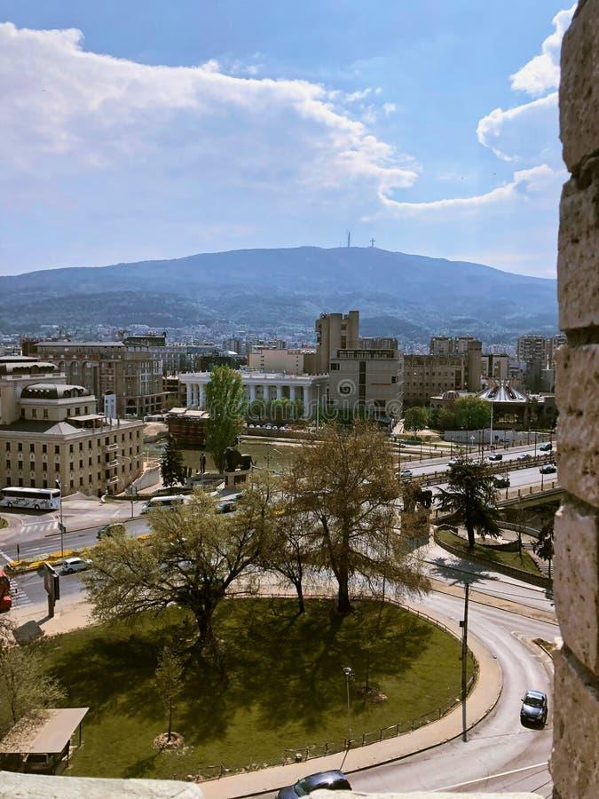 ?ciana kasztel w skopie Macedonia fotografia royalty free