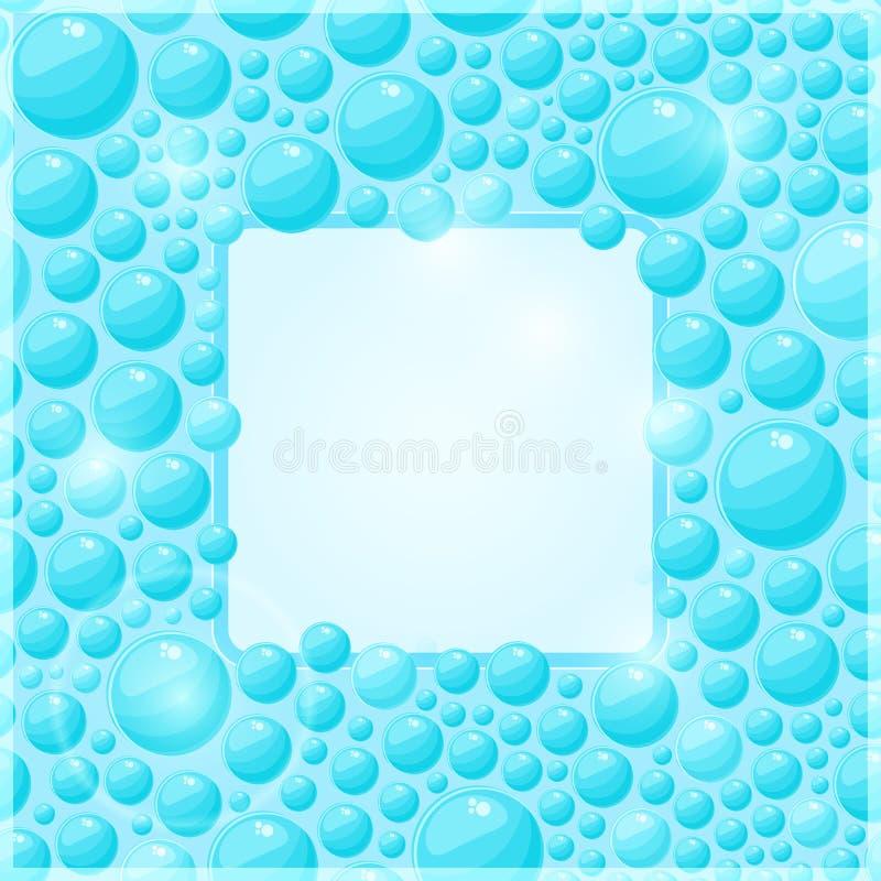 Ciano blocco per grafici della bolla dell'acqua illustrazione di stock