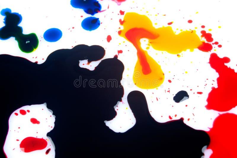 Ciano giallo rosso magenta e nero immagini stock libere da diritti