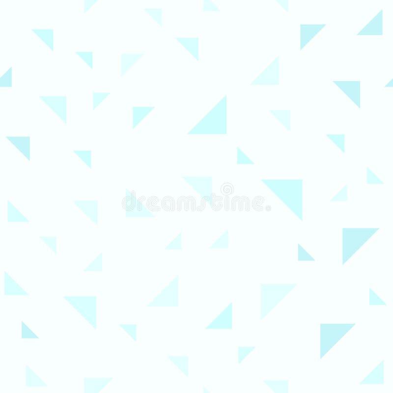 Ciano modello del triangolo Vettore senza giunte illustrazione vettoriale