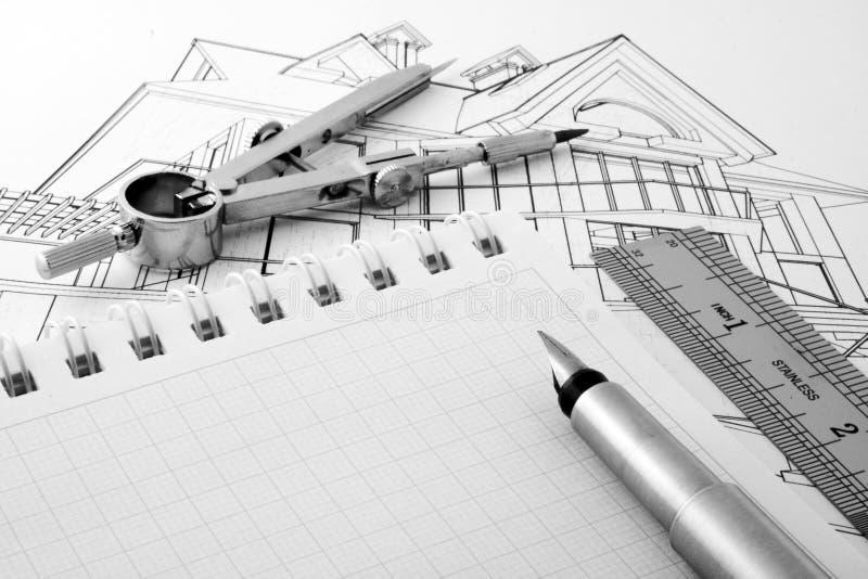 Cianografia di architettura immagine stock libera da diritti