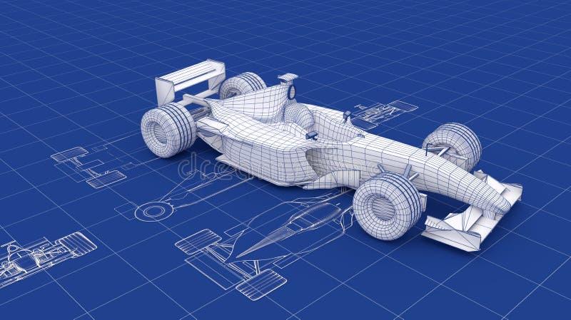 Cianografia di Formula 1 illustrazione vettoriale