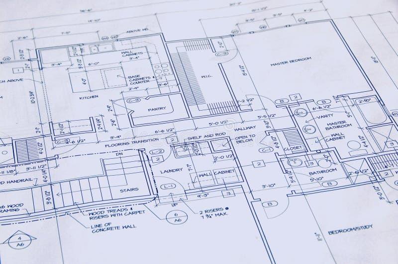 Cianografia di una casa immagini stock libere da diritti