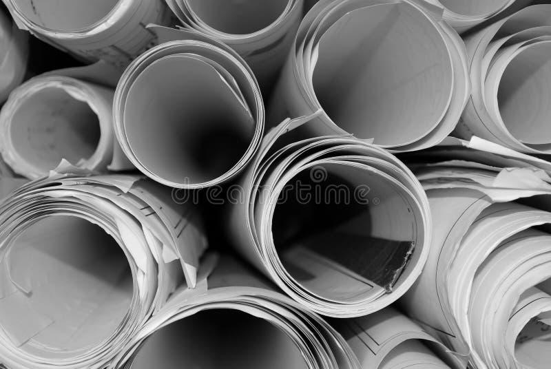 Cianografia Rolls fotografie stock libere da diritti