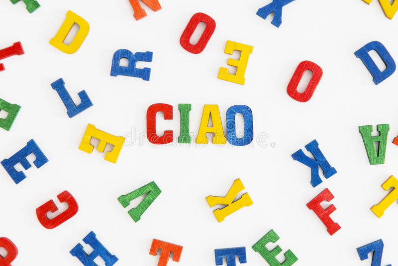 Download Ciao 库存照片. 图片 包括有 你好, 背包, 意大利语, 蓝色, ciao, 红色, 信函, 空白 - 59102646