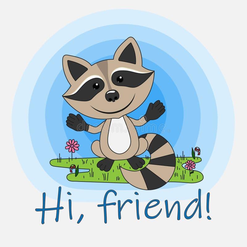 Ciao, amico! illustrazione vettoriale
