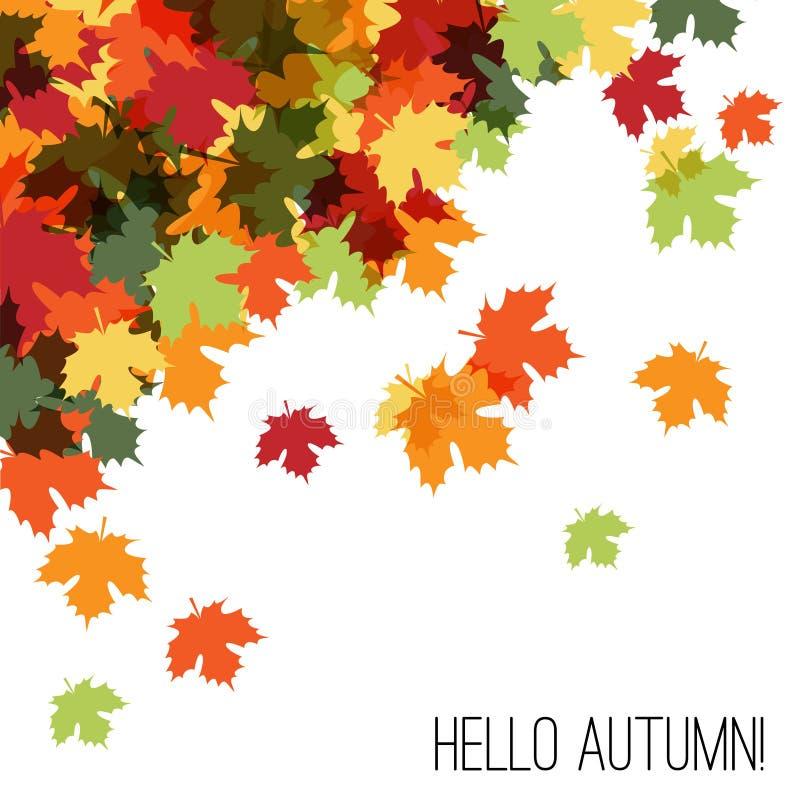 Ciao Autumn Beautiful Decorative Background royalty illustrazione gratis