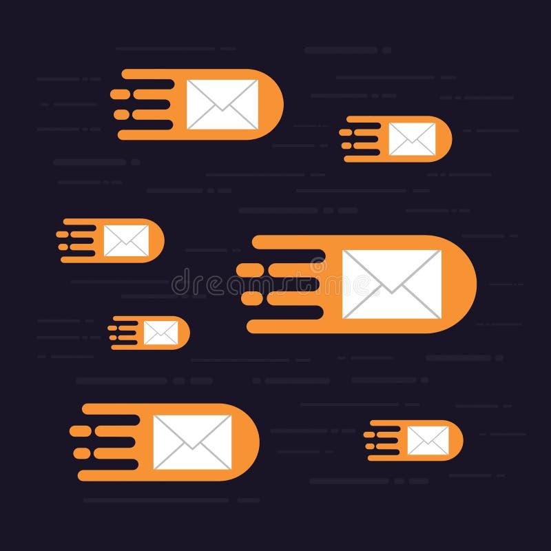 Ciao email di velocità illustrazione di stock