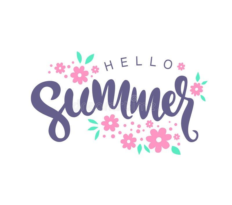 Ciao estate illustrazione vettoriale