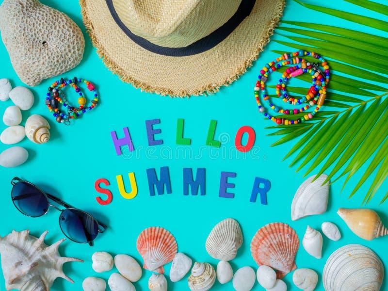 Ciao estate fotografia stock