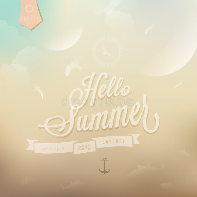 Ciao fondo colore/di estate  royalty illustrazione gratis